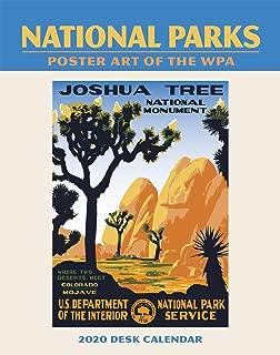 National Parks WPA Easel Engagement Calendar 2020 Planner 5.5