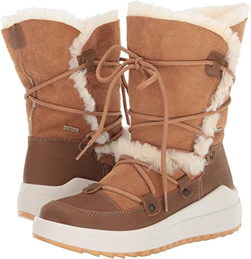 Tan Leather/Shearling