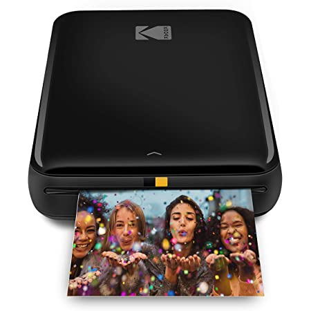 KODAK Step Imprimante ZINK Zero Ink mobile sans fil et application KODAK iOS et Android | Imprimez des photos autocollantes 5 x 7 cm - Noire