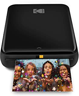 KODAK Step Wireless Mobile Photo Mini Printer (Black) Compatible w/iOS & Android, NFC & Bluetooth Devices