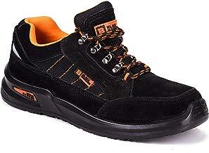 Botas para Hombre De Seguridad Puntera De Acero Zapatos De Trabajo Senderismo Plantilla De Protección Unisex-Adulto S1P CE Aprobado Black Hammer 9952
