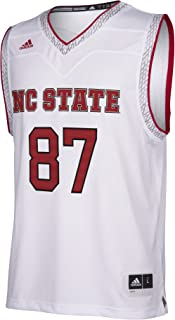 adidas NC State Wolfpack NCAA Men's White Iced Out Basketball Replica Jersey