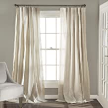Lush Decor Rosalie Window Curtains Farmhouse, Rustic Style Panel Set for Living, Dining Room, Bedroom (Pair), 84