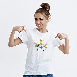 Round Split Neck T-Shirt For Women