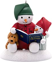 Hallmark Keepsake 2019 Year Dated Story Time Snowman Musical Ornament (Plays We Wish You a Merry Christmas Song)