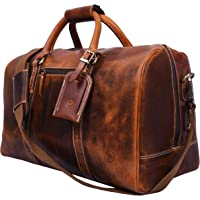 Aaron Leather Overnight/Weekend Carry-On Bag