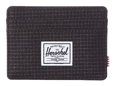Herschel Supply Co. Charlie RFID (Dark Grid/Black) Wallet Handbags