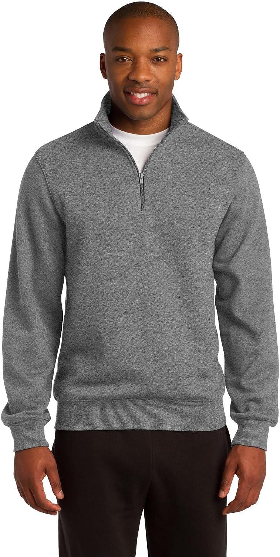 Sport-Tek Men's Tall 1/4 Zip Sweatshirt - Vintage Heather TST253 3XLT