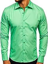 Da Uomo per il tempo libero Camicia Camicia Shirt Uomo Camicia Slim Fit Tinta Bolf 2b2 Classic