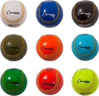 Champion Sports Weighted Training Baseball Set with Nylon Carrying Case, Set of 9