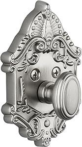 Grandeur Grande Victorian Single Cylinder Deadbolt, Satin Nickel