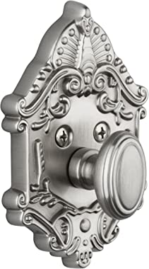 Grandeur Grande Victorian Single Cylinder Deadbolt, Satin Nickel