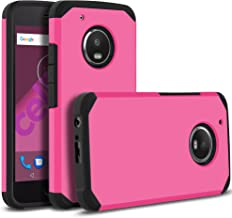 Celljoy Case Compatible with Moto G5 Plus, Moto X 2017 Model, Motorola XT1687 [Liquid Armor] Slim Fit [Dual Layer Series] TPU Protective Hybrid [[Shockproof]] - Thin Hard Cover (Matte Pink)