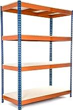 Racking Solutions - Estantería / Estante del garaje/ Sistema de almacenamiento de acero, cargas pesadas, capacidad de carga total 1600kg (4 niveles 1800mm Al x 1500mm An x 600mm Pr) + Envío gratis