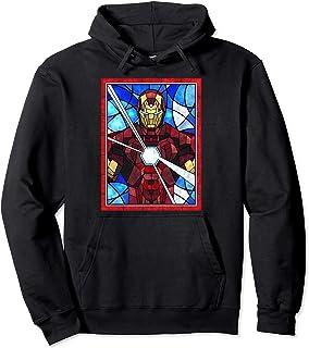 Marvel Iron Man Arc Reactor Beams Stained Glass Portrait Sweat à Capuche