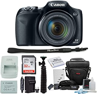 Canon Powershot SX530 HS Camera with 32GB Deluxe...