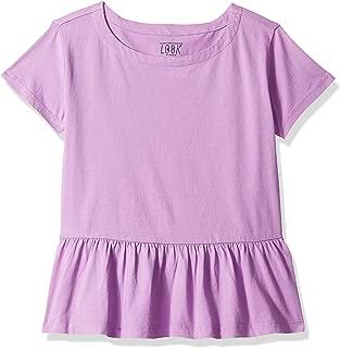 Amazon/ J. Crew Brand- LOOK by crewcuts Girls' Short Sleeve Peplum Tee
