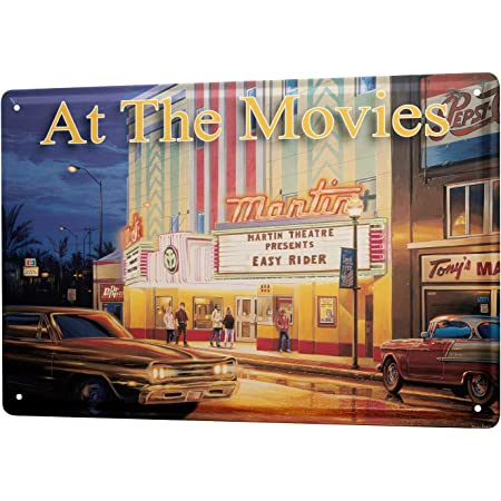 Blechschild Georg Huber Retro Us Nostalgie Deko Kino Film Oldtimer Auto Vintage American Cars 20x30 Cm