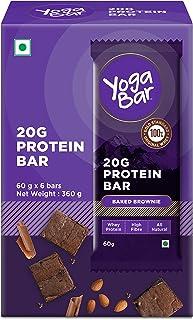 Yogabar 20 gram Protein Bar Chocolate Brownie - 6 x 65 g