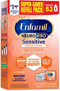 Enfamil Neuropro Sensitive Baby Formula Powder Refill Box, 29.4 Ounce, Easy-to-Digest Protiens, Immune Support, Omega 3 DHA, MFGM