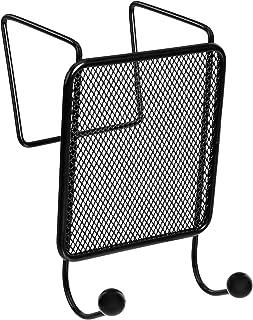Amazon Basics Mesh Double Coat Hook, Black, 2-Pack