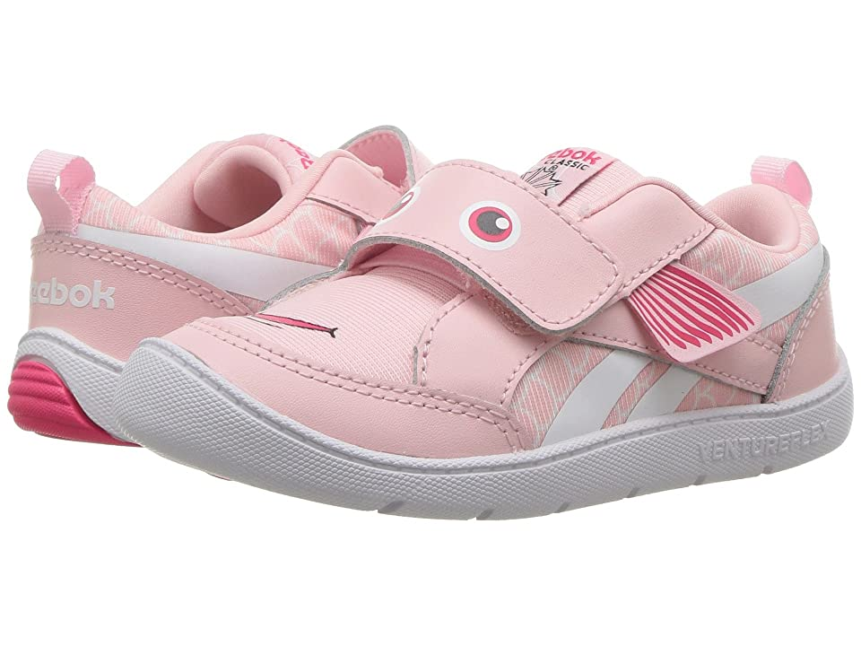 Reebok Kids Ventureflex Chase II Fish (Toddler) (Pink/White) Girls Shoes