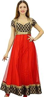 Bimba Designer Party Wear Long Anarkali Kurta Kurti Bollywood Dress Sequins Yoke Ethnic Chic Clothing