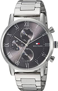 Tommy Hilfiger Men's Sophisticated Sport Quartz Watch with Stainless-Steel Strap, Silver, 22 (Model: 1791397
