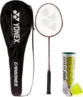 Yonex Carbonex Aluminum Blend 7000 EX Badminton Racquet and Mavis 200I Shuttlecock, Set of 6 (Multicolour)