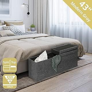 single ottoman bed side lift grey