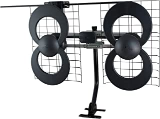 Antennas Direct ClearStream 4V TV Antenna, UHF/VHF, Multi-directional, Indoor, Outdoor, Mast with Pivoting Base/Hardware/Adjustable Clamp/Sealing Pads, 4K Ready, Black – C4-V-CJM (Renewed)