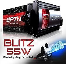 OPT7 BLTZ 55W H4 9003 Hi-Lo HID Kit - 3X Brighter - 4X Longer Life - All Bulb Sizes and Colors - 2 Yr Warranty [10000K Deep Blue Xenon Light]