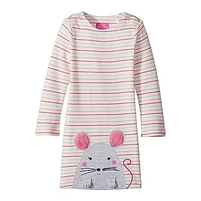 Joules Kids Applique Dress (Infant) (Multi Stripe Mouse) Girl