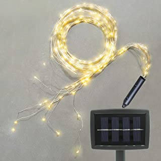 Soltuus Solar 180 LED String Fairy Lights, Starry Copper String Lighting, Waterproof Watering Can Light, Solar Powered Firefly Moon Plants Tree Vines Decorations, Warm White