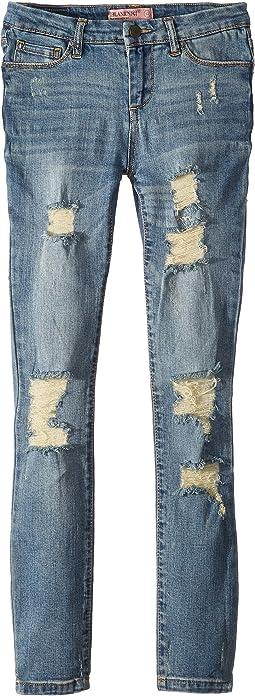 Distressed Skinny Jeans in Happy Time (Big Kids)