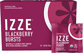 Izze Bursts Organic Fruit Snacks, Blackberry, 0.8oz Pouches, (18 Pack)