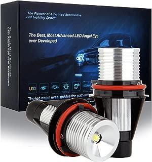cciyu Ultra White 6000K 10W E39 Error Free CREE LED Angel Eyes Halo Ring Marker Bulbs Replacement fit for BMW 5 6 7 Series X3 X5 (Fit E39 E53 E60 E63 E64 E65 E66 E83)