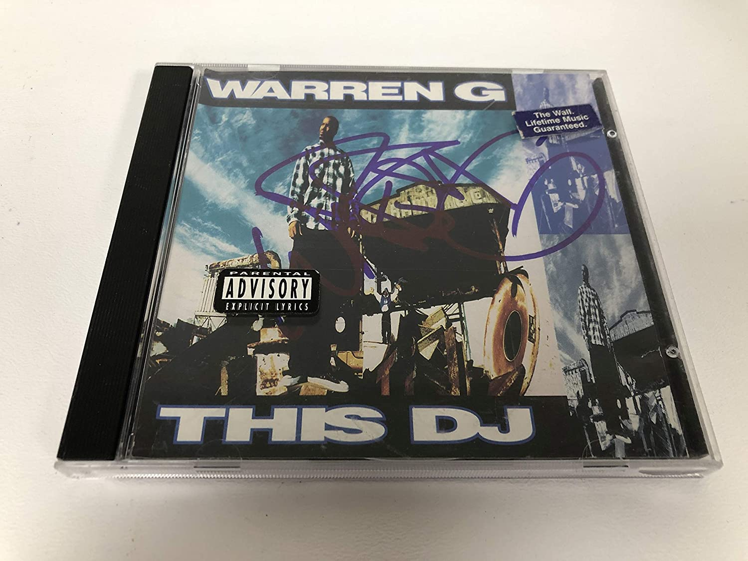 Warren G Signed Autographed 'This DJ' Ho Popular brand in the world COA Over item handling Matching CD Music -
