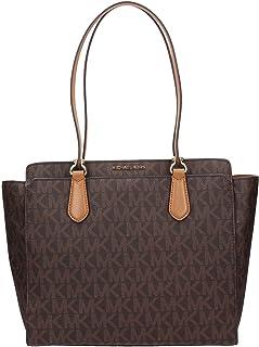 c0c91aa6b21d MICHAEL Michael Kors Womens Dee Dee Monogram Shopper Tote Handbag Brown  Large