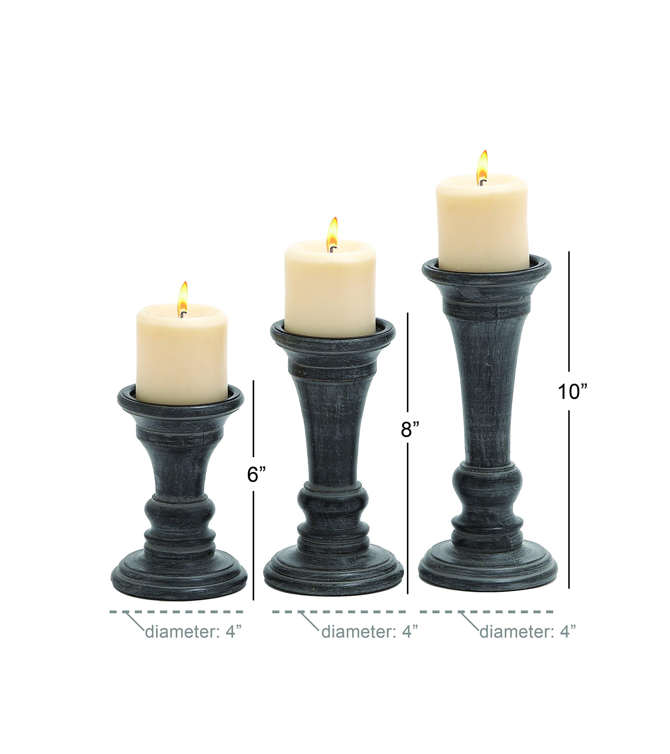Candlestick Holder Vintage Wooden Dark Stained Candlestick Holder Wooden Candlestick Holder