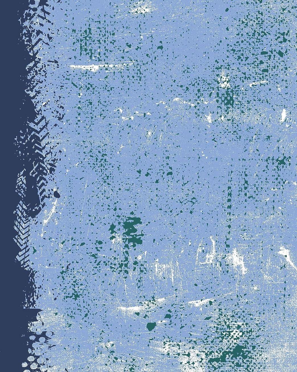 解放傑出した学ぶPowder Blue Navy Northwest Green: (8 x 10 Lined) Blank Grunge Team Color Notebook College Ruled