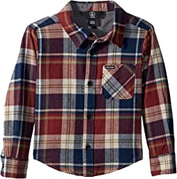 Caden Plaid Long Sleeve Flannel Shirt (Toddler/Little Kids)