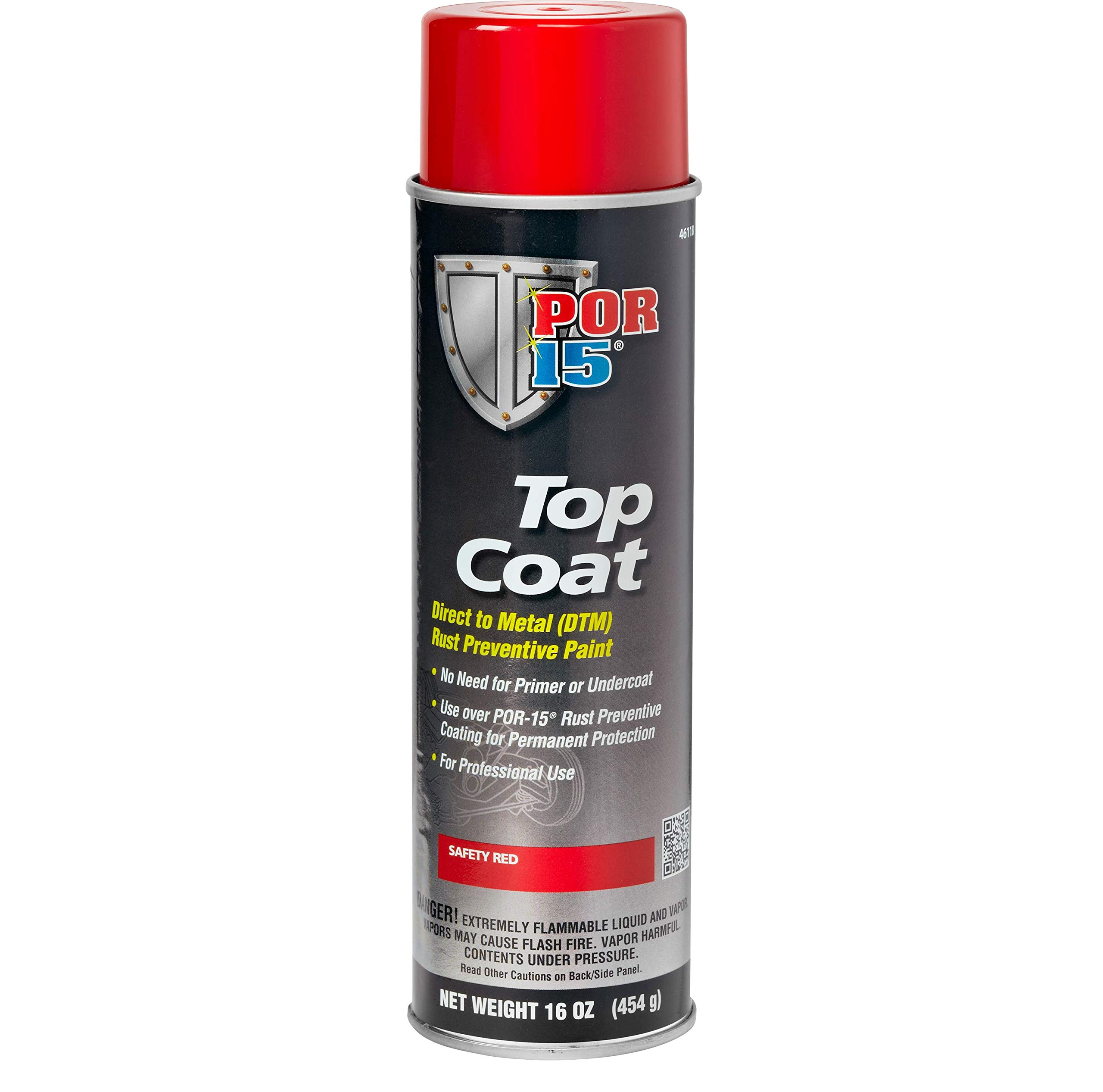 Amazon Com Por 15 46118 Top Coat Safety Red Spray Paint 16 Fl Oz Automotive