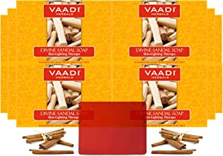 Vaadi Herbals Divine Sandal Soap with Saffron and Turmeric, 75g (Pack of 12)