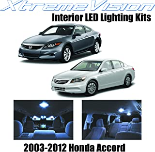 XtremeVision Interior LED for Honda Accord 2003-2012 (12 Pieces) Cool White Interior LED Kit + Installation Tool