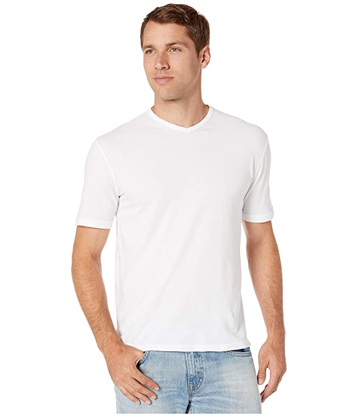 1950s Men's Clothing Mod-o-doc San Diego Short Sleeve V-Neck White Mens T Shirt $53.00 AT vintagedancer.com
