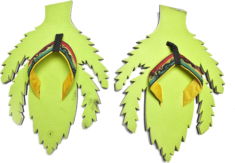 Churinga Weed Flip Flops Summer Beach Marijuana Sandals Shower Slippers Non-Slip Funny Crazy shoes Wear for Women Men