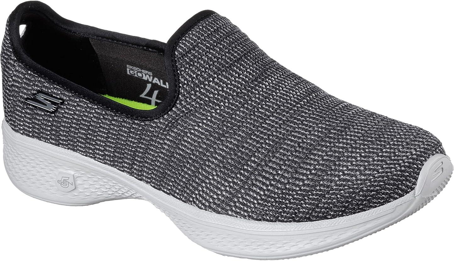 救急車マイクロフォンメディックSkechers Go Walk 4 [14922BKGY] Women Walking Shoes Black/Grey-090