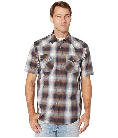 Pendleton Short Sleeve Frontier Shirt (Blue/Brown Plaid) Men