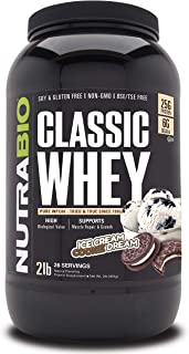 NutraBio Classic Whey Protein - 2 pounds (Ice Cream Cookie Dream)